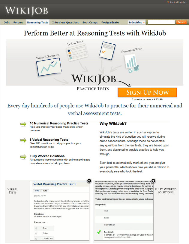 WikiJob Control - VWO case study