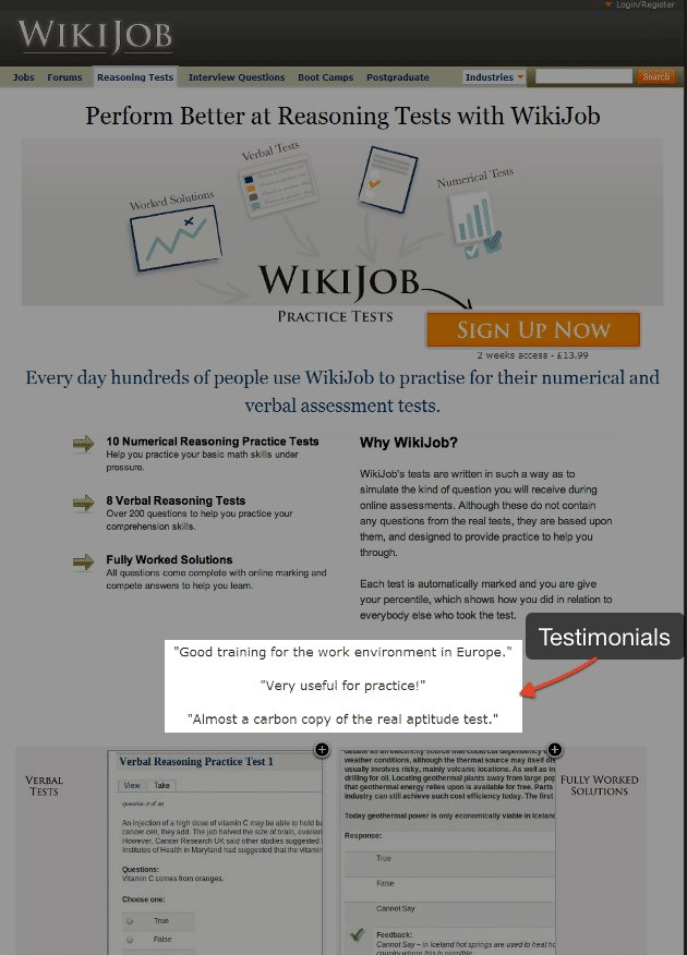 WikiJob Variation - VWO case study