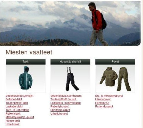 Men's Clothing Page