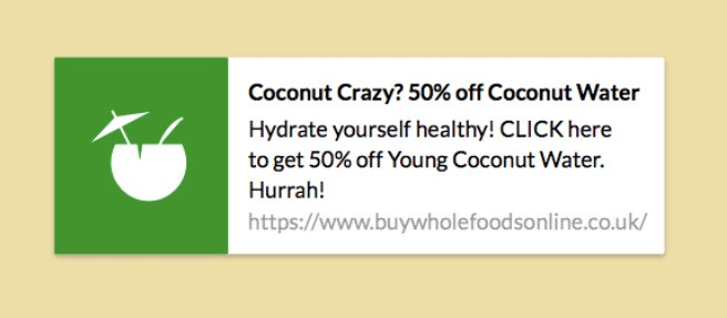 an example of push notification from Buy Whole Foods Online's website