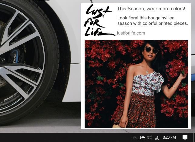 an example of push notification on fashion blogs