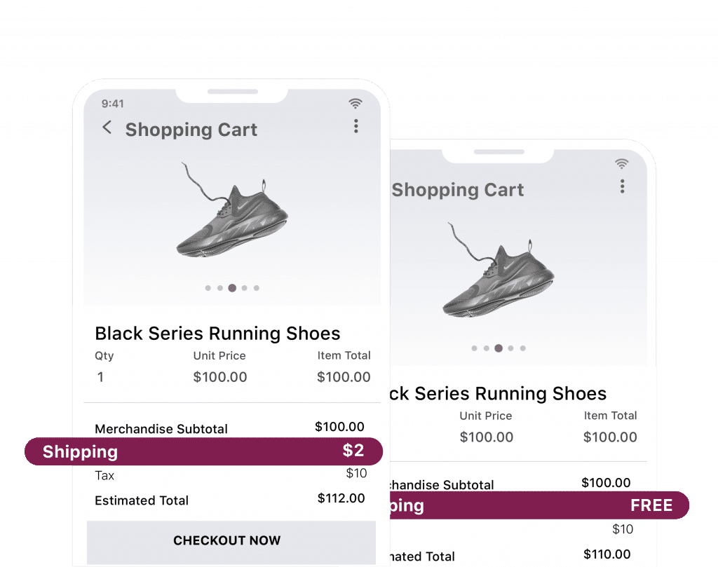 test dynamic shipping prices on shopping cart checkout pages