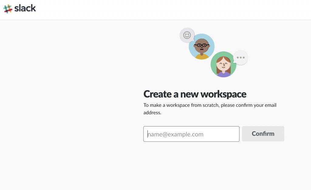 Slack.com lead generation web form