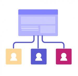 illustration showcasing segmentation of website visitors
