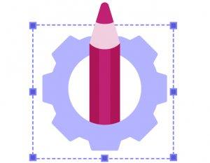 illustration showcasing pencil symbolising optimization