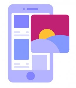 illustration showcasing mobile friendly website surveys