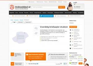 variation of the a/b test on Drukwerkdeal's website