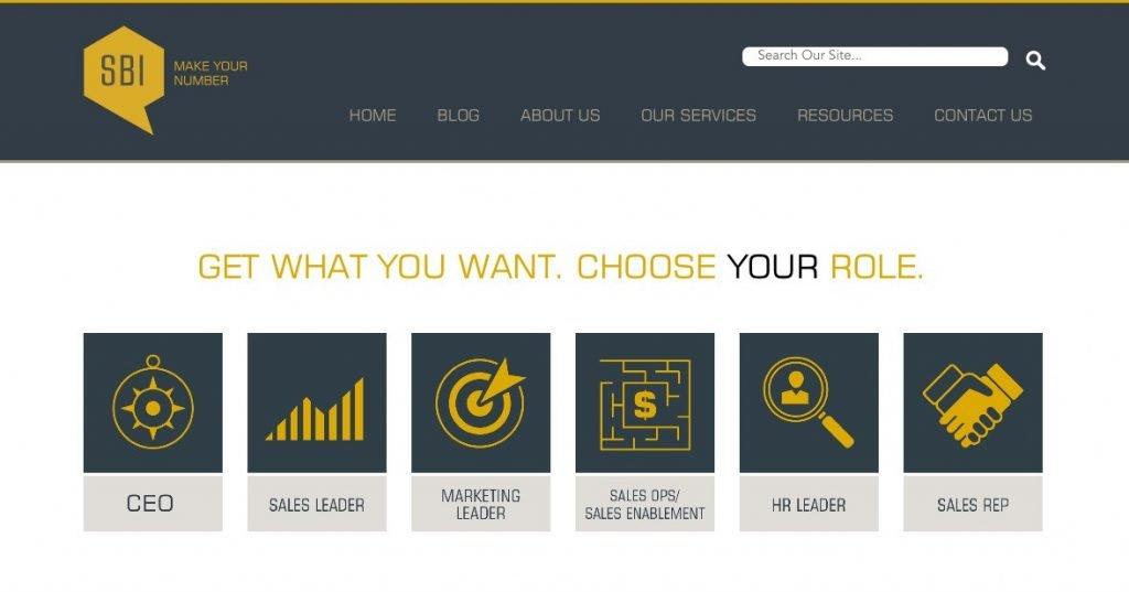 Personalización del blog de Sales Benchmark Index