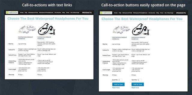 difference between CTA links and CTA buttons