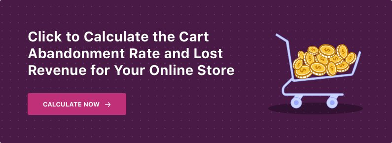 banner for cart abandonment calculator