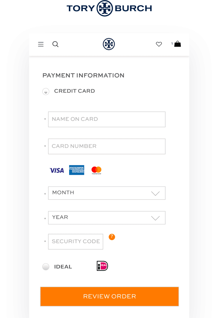 lack of payment options on the checkout page