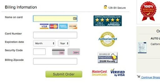 trust seals on checkout page reduce cart abandonment