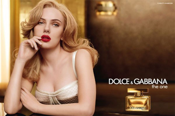 advertisement of the fragrance from Dolce & Gabbana