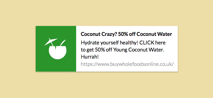 screenshot of the push notification that had a 15.2% click-through rate