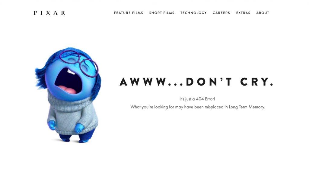 404 Page Of Pixar