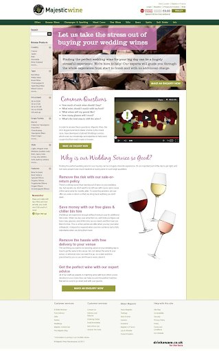 variation of the test on Majesticwine website