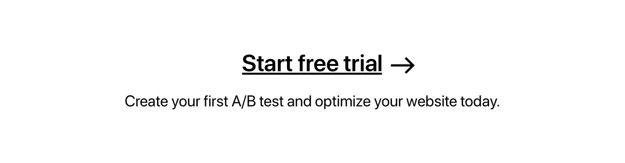 Create your first A/B test and optimize your website today