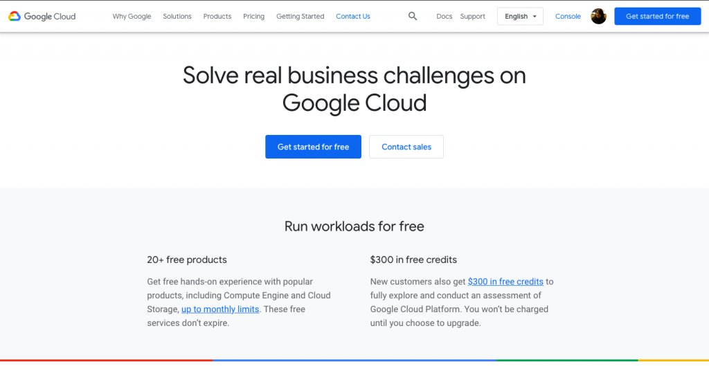 Free trial and free tier - google cloud