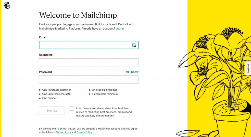 Mailchimp's Exclusive Sign Up Form