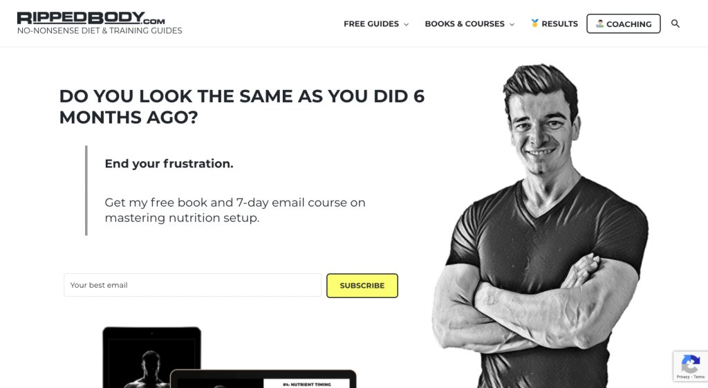 Ripped Body Subscription Form