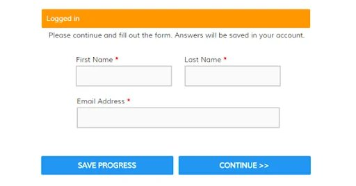 Formsite uses save button to enable users to fill form at their own pace