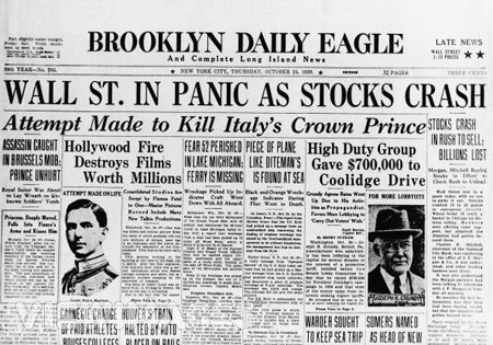 snapshot of an old newspaper edition of Brooklyn Daily Eagle