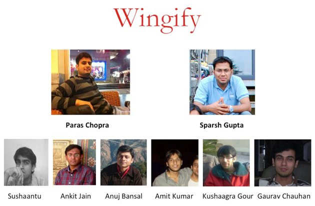 profile photo of the first Wingify team