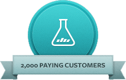 banner promoting 2000+ paying customers