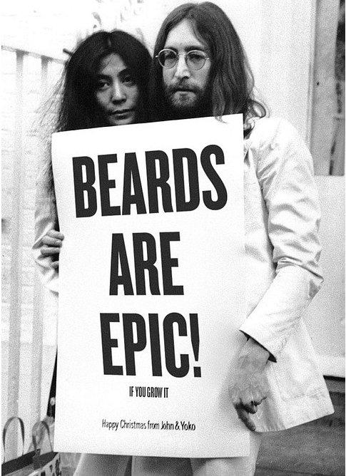 John Lennon bearded look