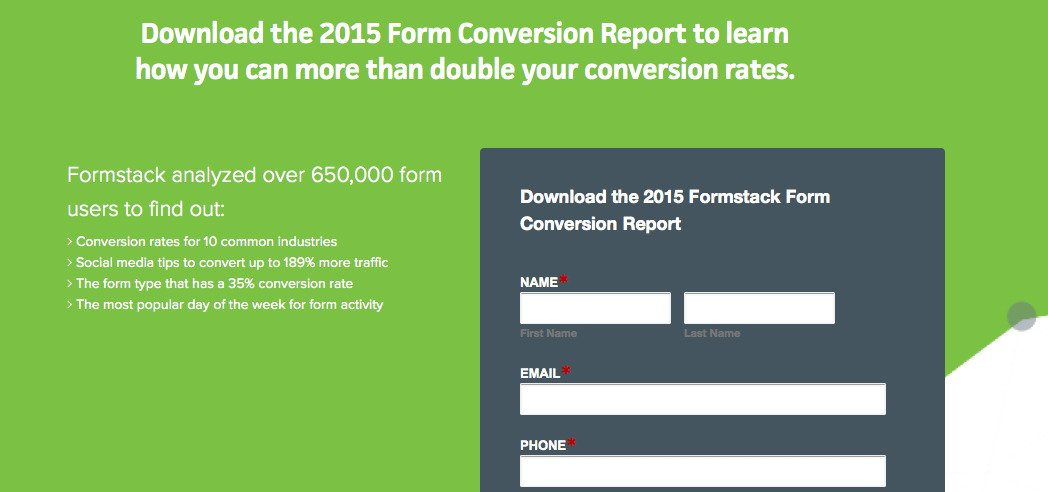 2015 Form Conversion Report · Formstack