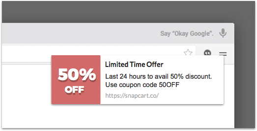 Notify existing users of a special discount/sale