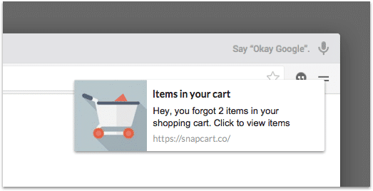Send a reminder to recover abandoned carts