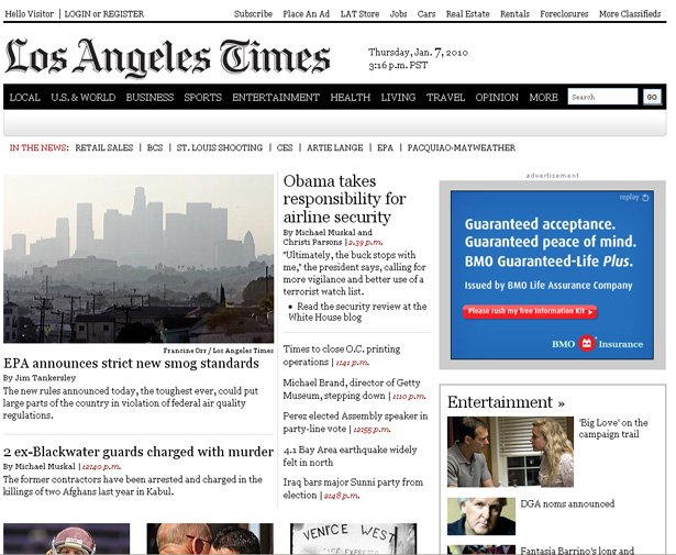 Law of Proximity used in LA TImes