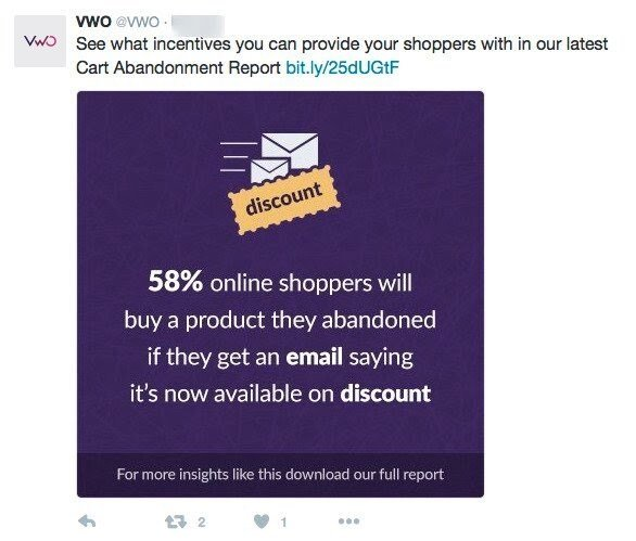 Vwo updates shared on twitter