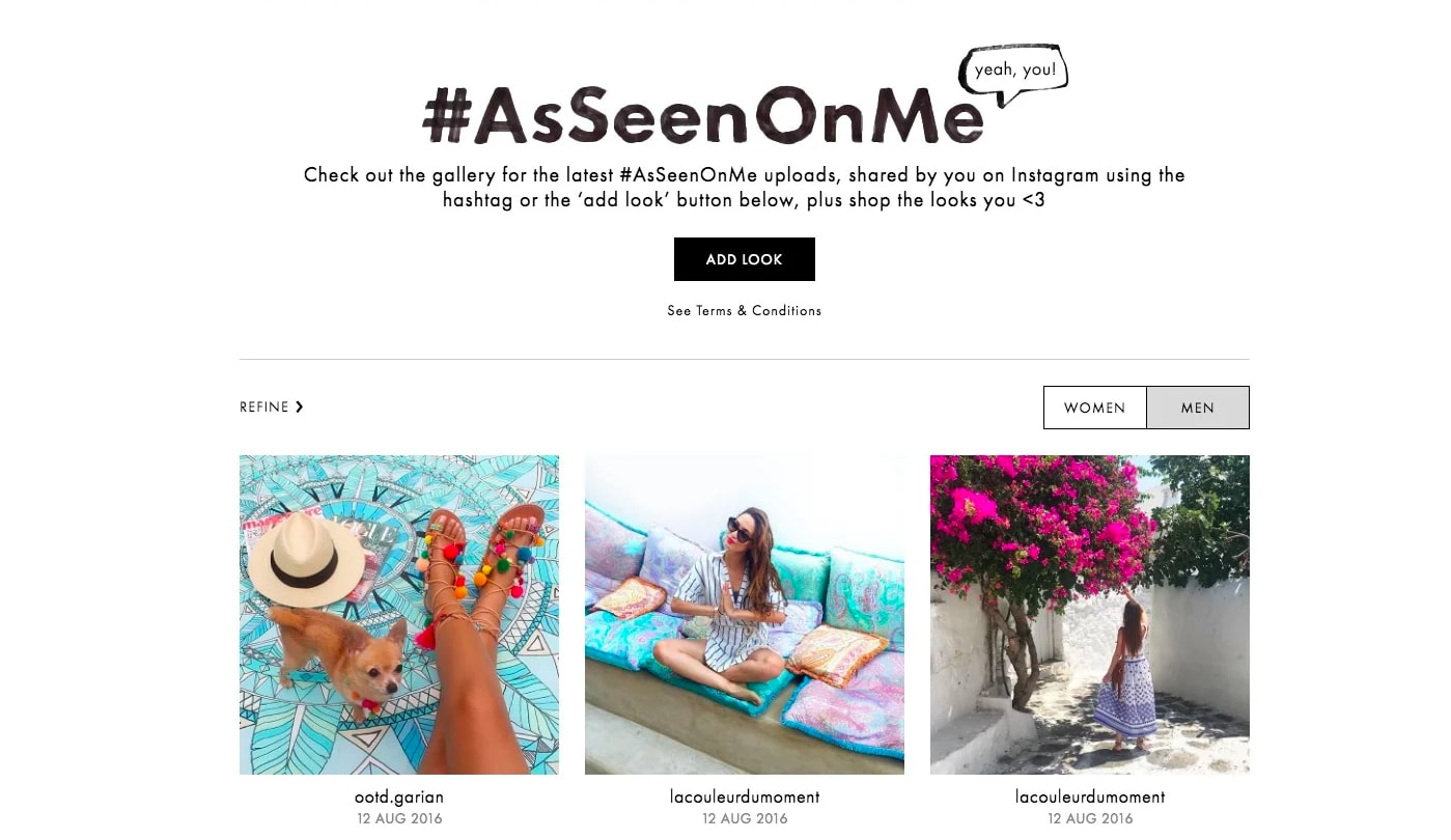 Aseenonme competition Asos