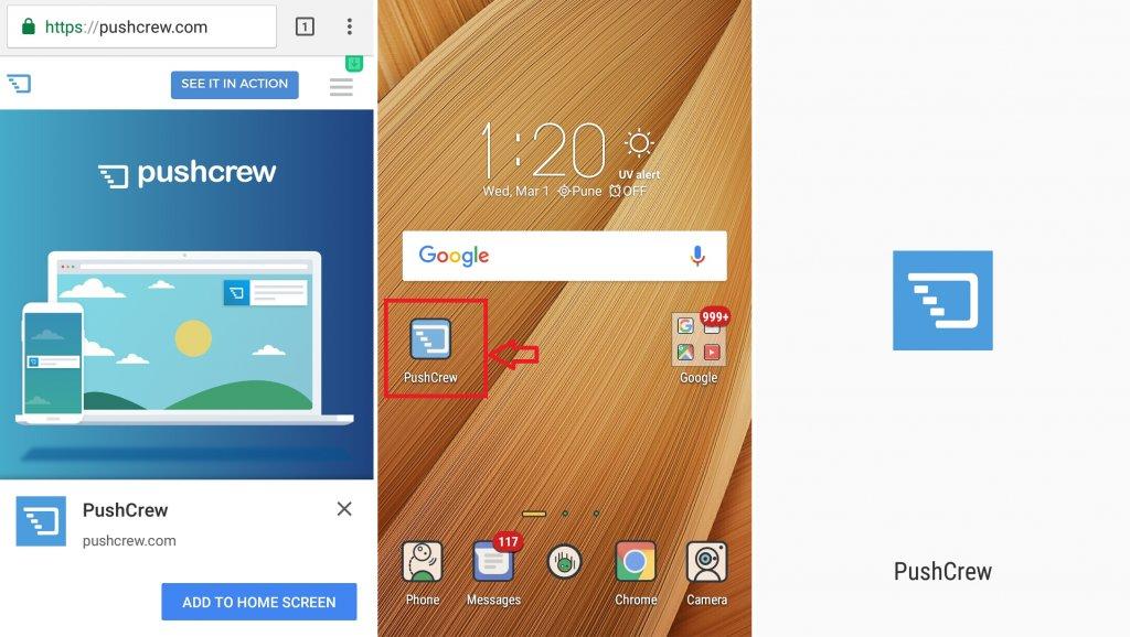 Adding a Progressive Web App to your Home Screen