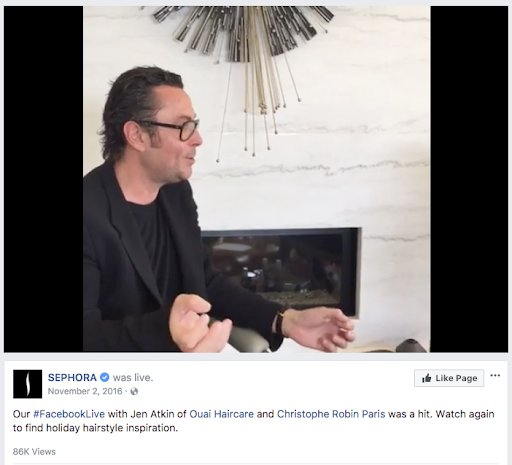 Sephora's AMA on Facebook Live For Customer Engagement