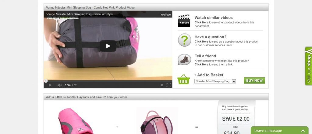 example of product videos on ecommerce store