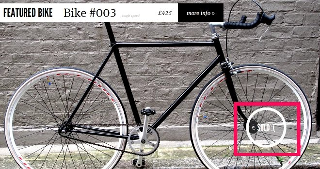 Scarcity proof on the ecommerce store of featured bike