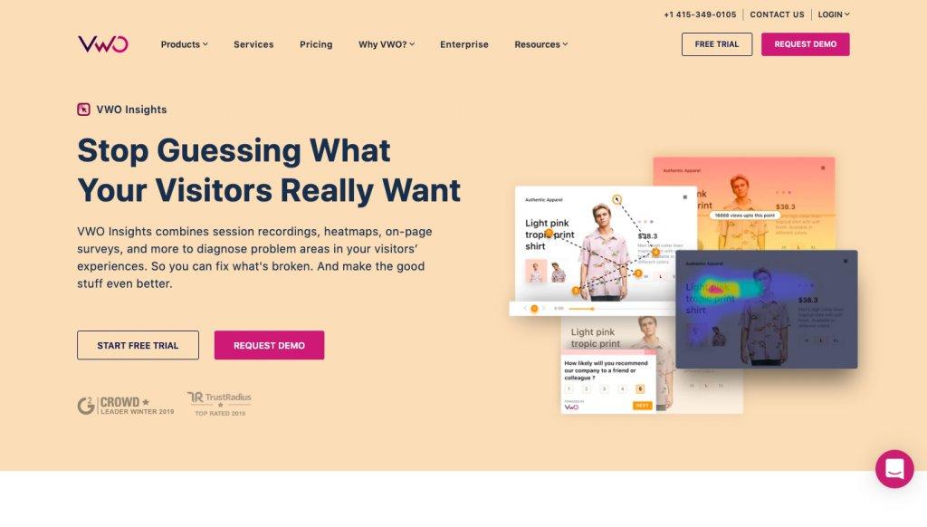 brand color scheme for VWO Insights