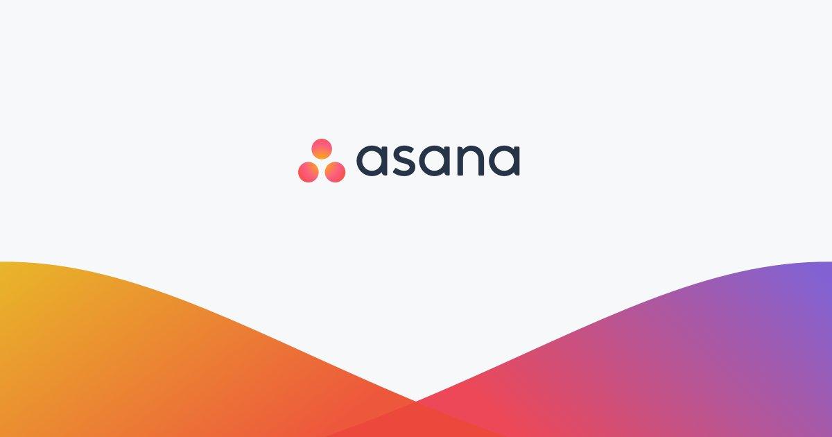 brand color scheme for Asana
