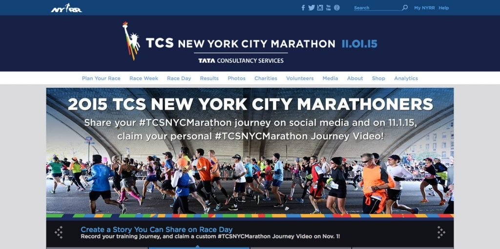 microsite for TCS New York City marathon