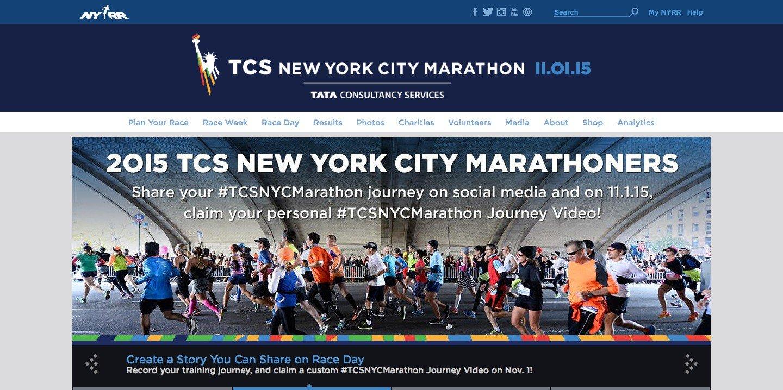 microsite for TCS New York City marathon