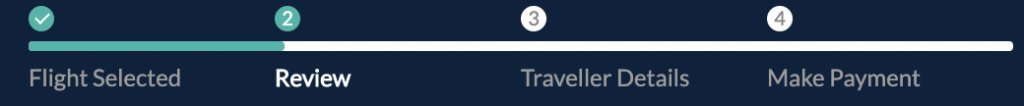 image of progress bar on travel website