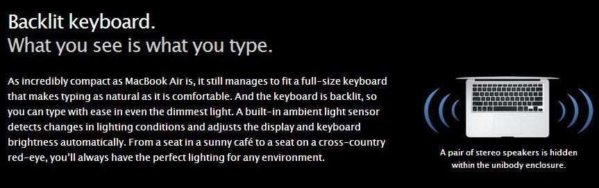 promotional banner of a backlit keyboard from Apple