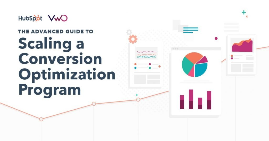 cover image for the advanced guide from VWO & Hubspot on scaling a CRO program