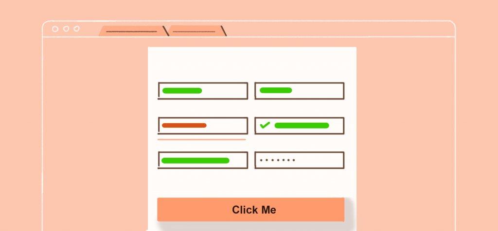 illustration of a sign-up form
