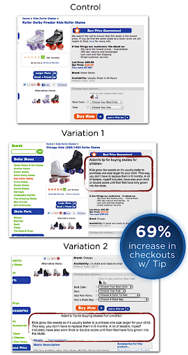 screenshot of both the variations of the Roller Skate Nation's product page