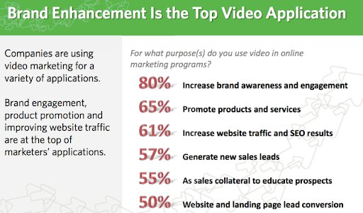 screenshot for the report on the purpose of using videos in online marketing programs