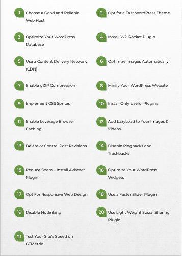 actionable tips on WordPress website optimization
